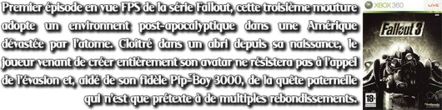 Description PTs3#8 Fallout 3 (X360)